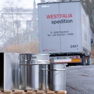 Lieferung Verpackungen on-demand WESER Industrieverpackungen Gefahrgutverpackungen · NRW